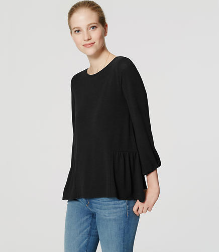 Image of Relaxed Peplum Top