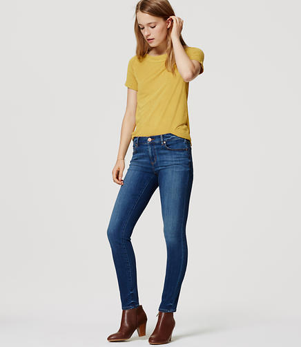 Image of Petite Denim Leggings in Vivid Indigo Wash