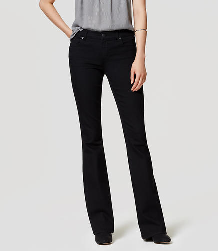 Image of Petite Flare Jeans in Black