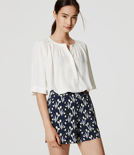 Image of Valley Floral Pleated Shorts