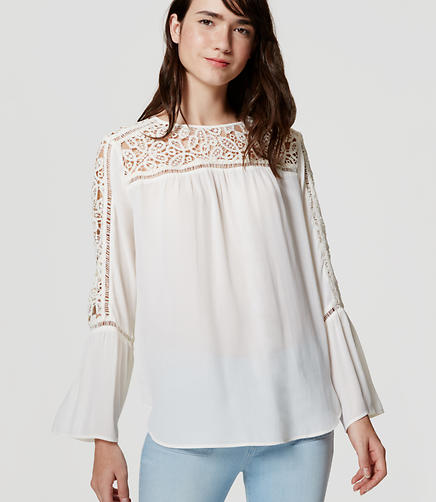 Image of Lacy Poet Blouse