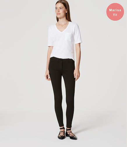 Image of Petite Ponte Five Pocket Leggings in Marisa Fit