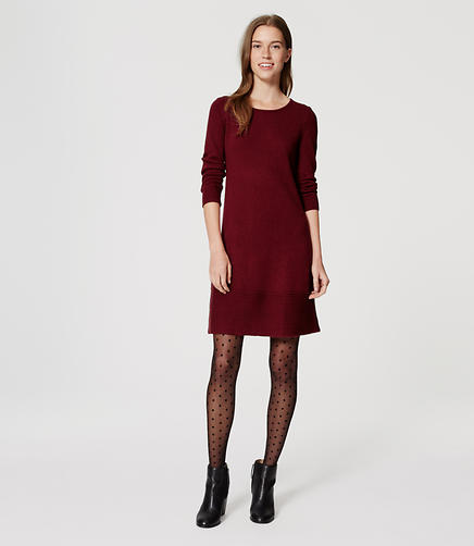 Image of Petite Swing Sweater Dress