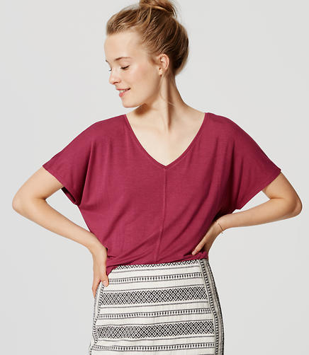 Image of Petite Relaxed Dolman Tee