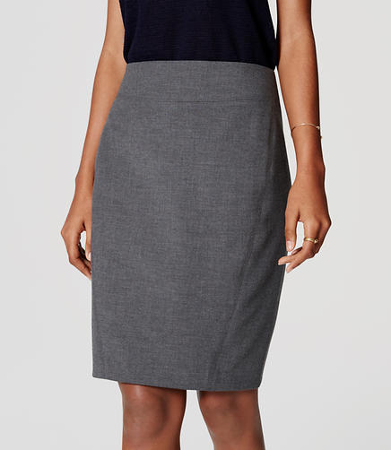 Image of Curvy Seamed Scuba Pencil Skirt