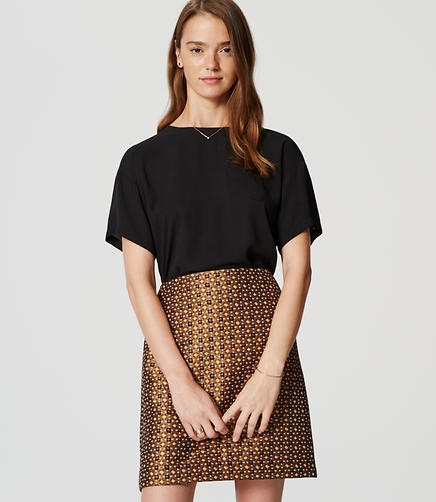 Image of Petite Geo Garden Shift Skirt