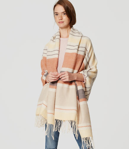 Image of Striped Blanket Scarf