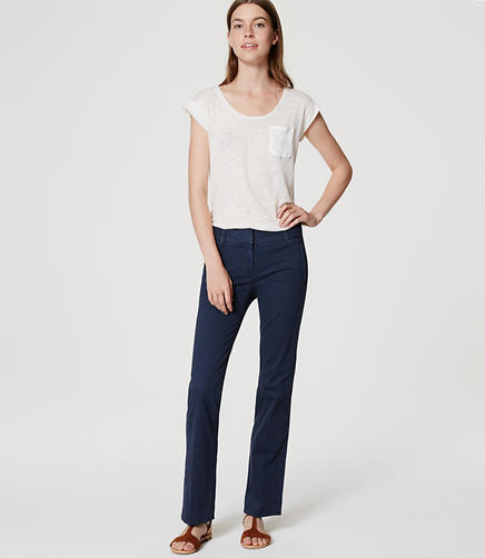 Image of Petite Boot Cut Sanded Sateen Chinos in Marisa Fit