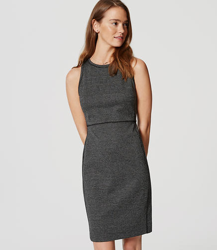 Image of Houndstooth Sheath Dress