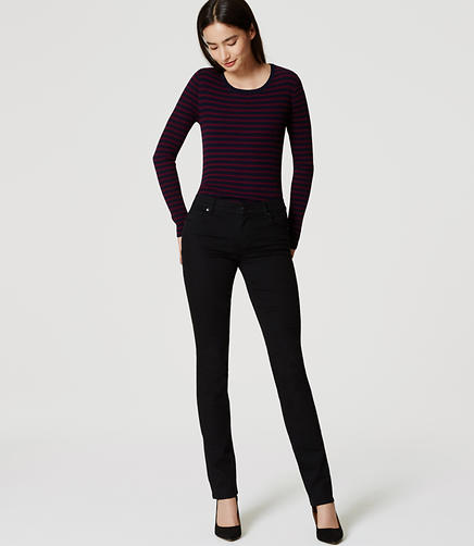 Image of Petite Modern Straight Leg Jeans in Black