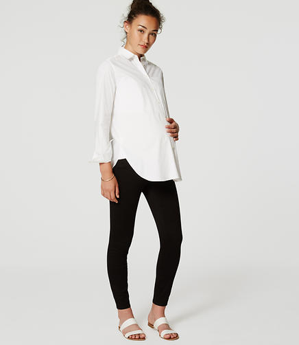Image of Maternity Sateen Five Pocket Leggings