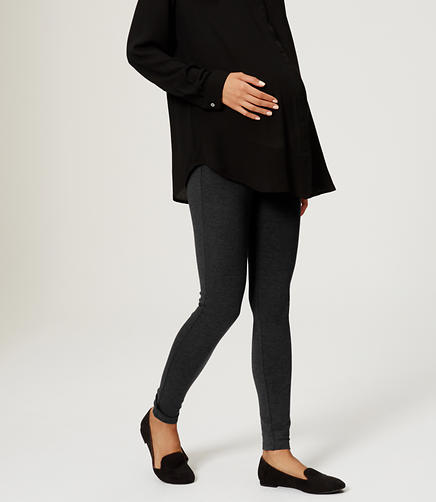 Image of Petite Maternity Seamed Ponte Leggings