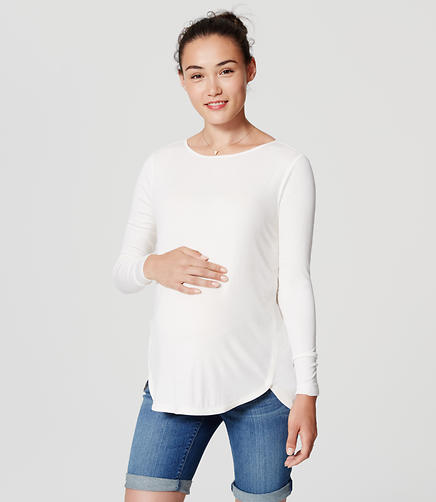 Image of Maternity Seamed Shirttail Tee