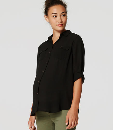 Image of Maternity Utility Blouse