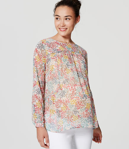 Image of Maternity Wildflower Piped Blouse