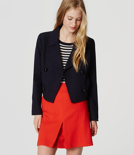 Image of Petite Cropped Peacoat