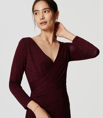 Image of Petite Side Shirred Wrap Dress