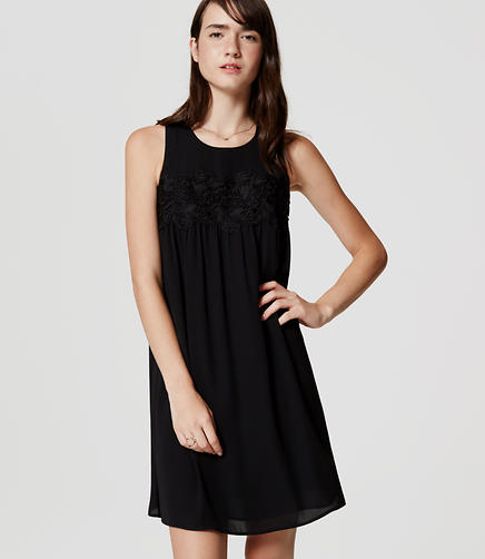 Image of Petite Lacy Swing Dress