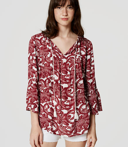 Image of Tasseled Peasant Blouse