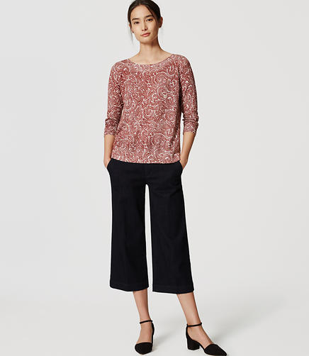 Image of Petite Vine Button Back Sweater