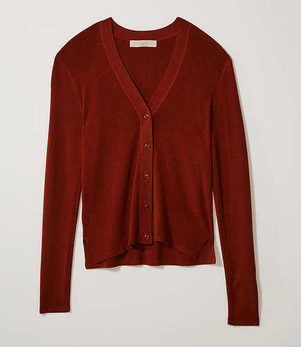 Image of Petite Ribbed Cardigan