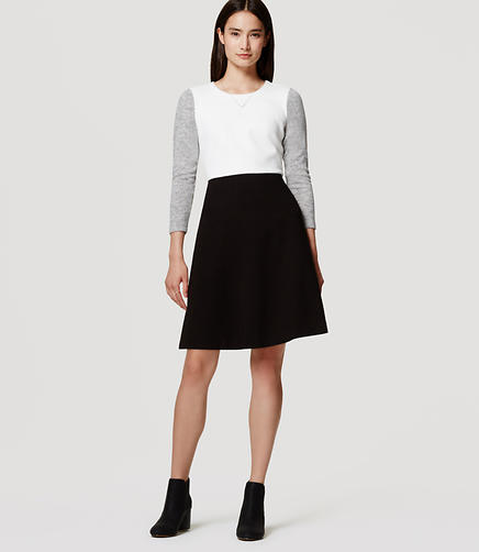 Image of Petite Colorblock Flare Dress