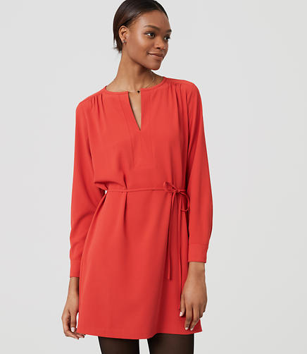 Image of Split Neck Shirtdress