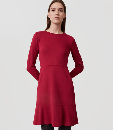 Image of Long Sleeve Flare Dress