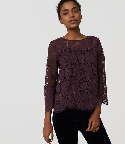 Image of Lace Medallion Top