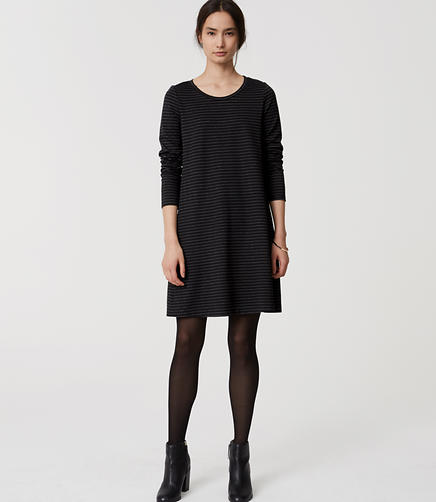 Image of Striped Swing Dress