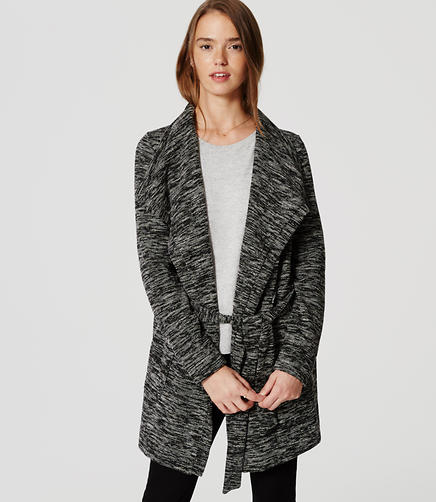 Image of Marled Belted Cardigan