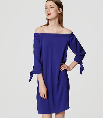 Image of Tie Off the Shoulder Dress