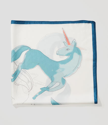 Image of Unicorn Square Silk Scarf