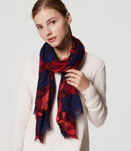 Image of Silky Floral Scarf