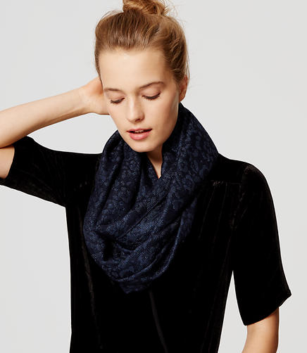 Image of Shimmer Spotted Infinity Scarf