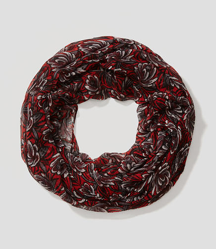 Image of Winter Floral Infinity Scarf
