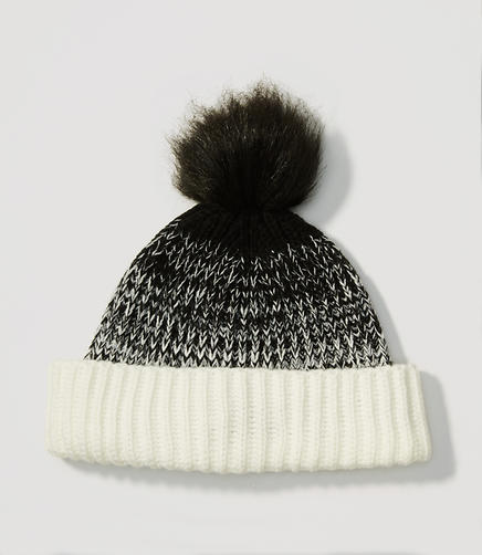 Image of Ombre Faux Fur Pom Pom Hat