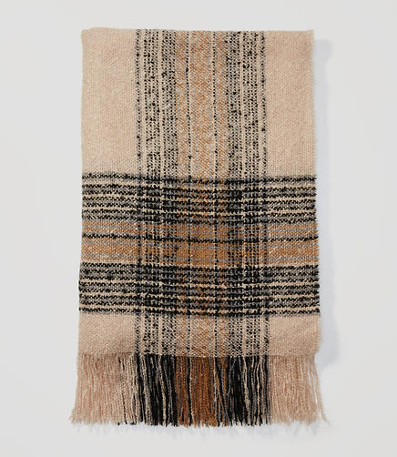 Image of Plaid Blanket Scarf