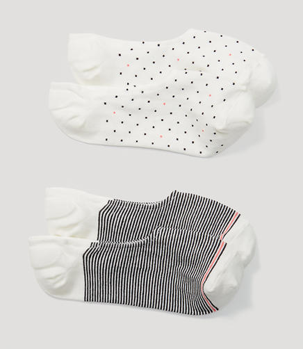 Image of Dot and Stripe No Show Sock Set