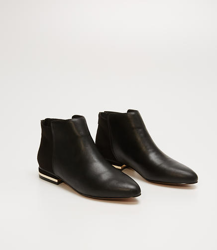 Image of Metallic Trim Booties