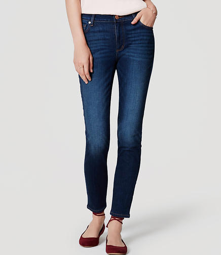 Image of Curvy Skinny Ankle Jeans in Dark Indigo Wash
