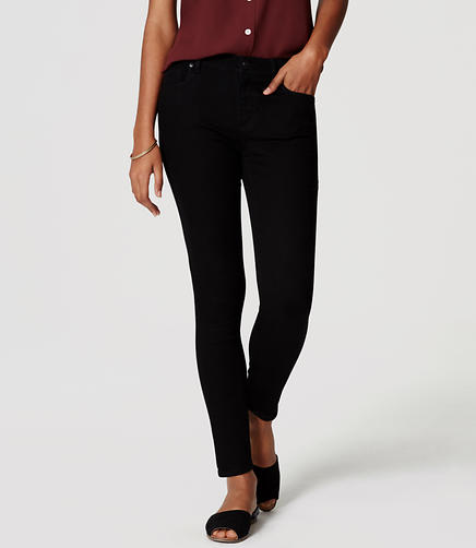 Image of Petite Modern Skinny Ankle Jeans in Black