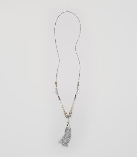 Image of Tassel Beaded Necklace