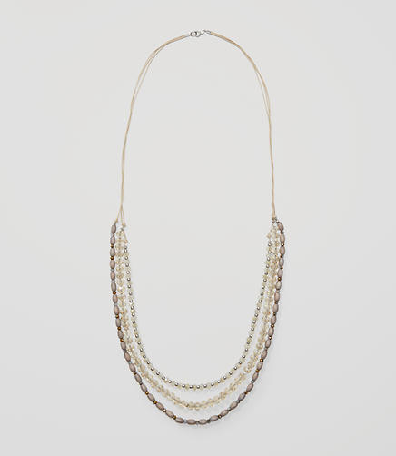 Image of Beaded Multistrand Necklace