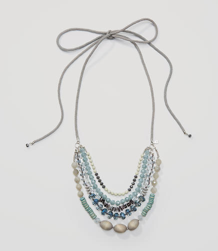 Image of Beaded Multistrand Rope Necklace