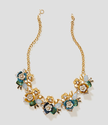 Image of Mixed Stone Floral Necklace