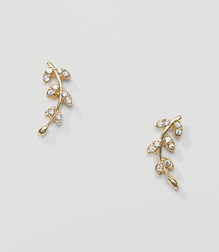 Image of Pave Leaf Earrings