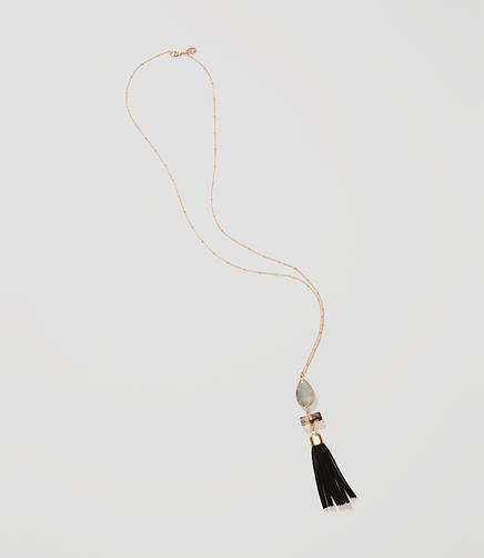 Image of Faux Suede Tassel Necklace