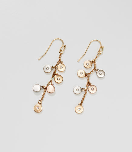 Image of Dangling Disc Drop Earrings