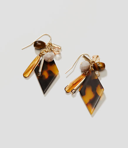 Image of Tortoiseshell Print Drop Earrings